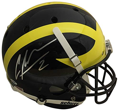 Charles Woodson Autographed Michigan Wolverines Signed Full Size Football  Helmet PSA DNA COA 2732cf17b