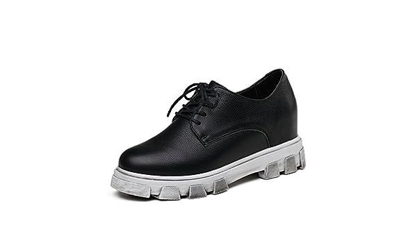 Primavera Zapatos Mujer Casual,Creciente Dentro De Los Mocasines Coreanos,Zapatos Planos De Las Mujeres,Plataforma Zapatos De Cuero del: Amazon.es: Zapatos ...