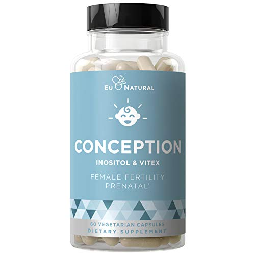 Conception Fertility Prenatal Vitamins - Regulate Your Cycle, Balance Hormones, Aid Ovulation - Myo-Inositol, Vitex, Folate Folic Acid Pills - 60 Vegetarian Soft Capsules (The Best Prenatal Vitamins Before Pregnancy)