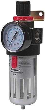 Silverline 427596 - Filtro regulador para aire comprimido (150 ml): Amazon.es: Bricolaje y herramientas