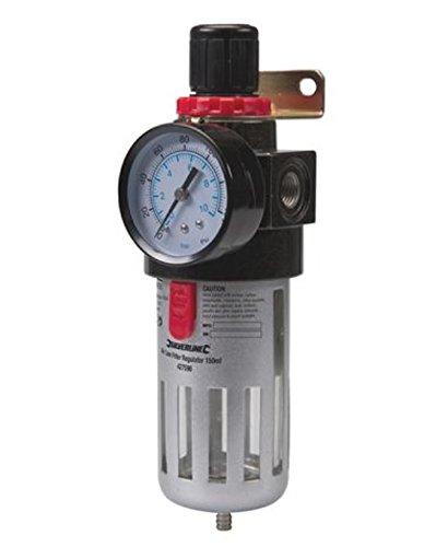 Silverline 427596 - Filtro regulador para aire comprimido (150 ml)