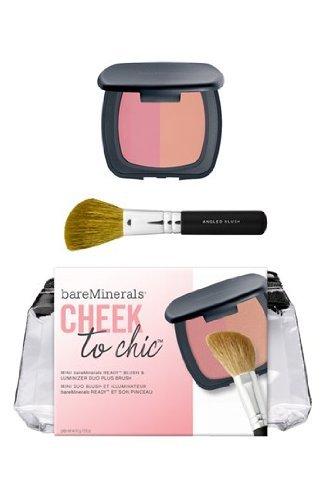 Bare Escentuals Bareminerals Blush & Luminizer Duo + Brush Limited-edition Cheek to Chic Set, New!