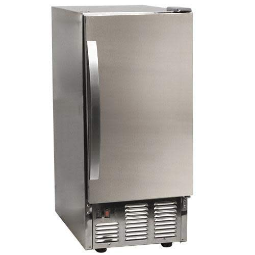 EdgeStar OIM450SS Outdoor Undercounter Clear Ice Maker - Stainless Steel
