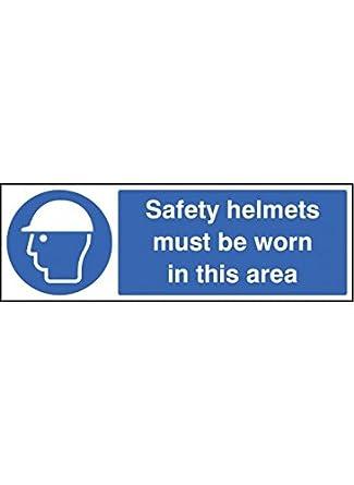 Caledonia signos 15016p cascos de seguridad debe llevarse en esta zona Sign, 600 mm x