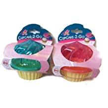 Evriholder C2G Cupcake To Go, Set of 2, Pink and Turquoise