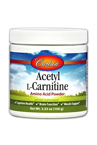 Carlson Acetyl L-Carnitine Powder 1.2 g, 100 g Jar