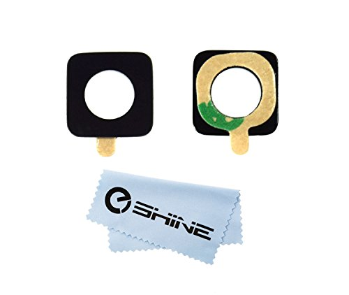 EShine Back Rear Camera Glass Lens Replacement + Adhesive Preinstalled for Samsung Galaxy S5 ACTIVE G870A AT&T + Cloth