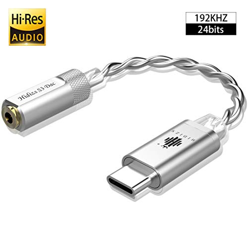 HIDIZS S3 Portable Headphone Amp/USB C DAC/Audio Amplifier for Android/Windows/MacOSX System Smartphone Laptop (Silver)
