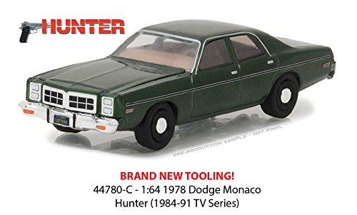 Rick Hunter's 1978 Dodge Monaco Hunter (1984-1991 TV Series) Hollywood Series 18 1/64 Diecast Model Car by Greenlight 44780 C