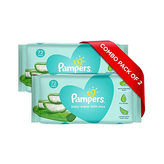 Pampers Aloe Vera Baby Wipes - 144 Count