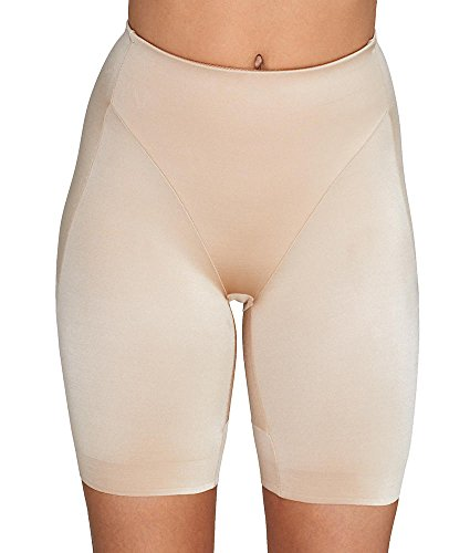 TC Fine Intimates Rear & Thigh Firm Control Thigh Slimmer, M, Nude