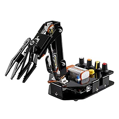 SunFounder Robotic Arm Edge Kit for Arduino Uno R3 - an Robot Toy to Learn STEM Education(101 Pieces)