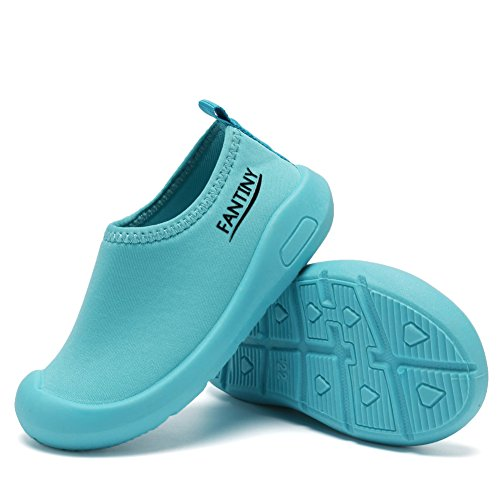 CIOR Kids Slip-on Casual Mesh Sneakers Aqua Water Breathable Shoes For Running Pool Beach (Toddler/Little Kid) SC1600 Blue 20 5