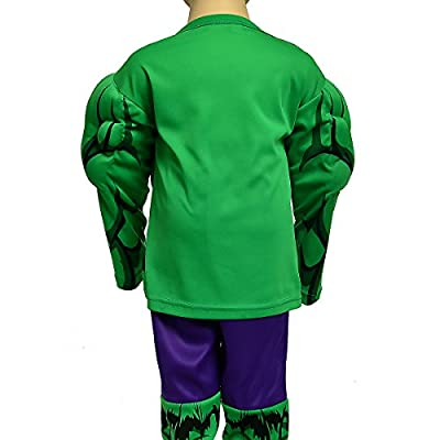 Dressy Daisy Boys' Muscle Incredible Hulk Avenger Superhero Costume Halloween Party: Clothing