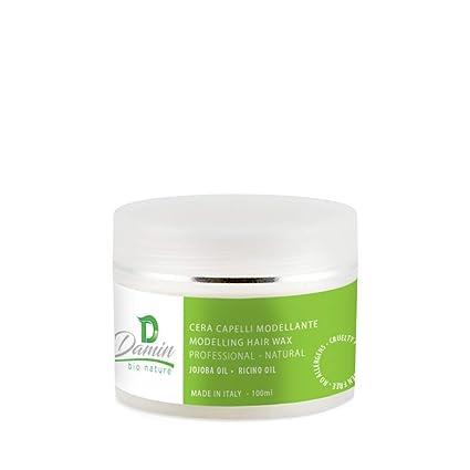 Damin Bio Nature - Cera para el Pelo Natural con Aceite de Ricino Jojoba y Almendras
