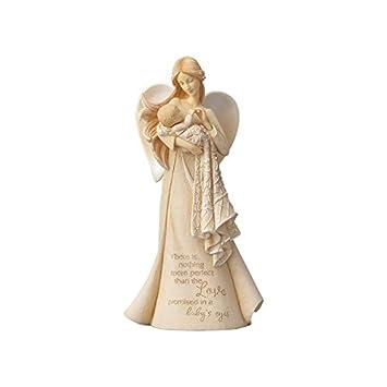 Enesco Foundations Love in Baby s Eyes Angel, 7.68 Polyresin Figurine