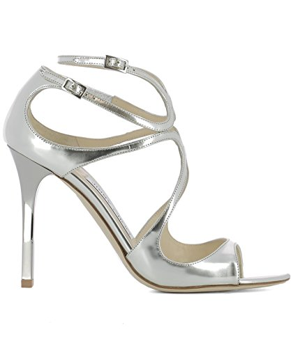 Jimmy Choo Women's LANGMLESILVER Silver Leather Sandals cheap sale sneakernews discount cost SZ1yJ
