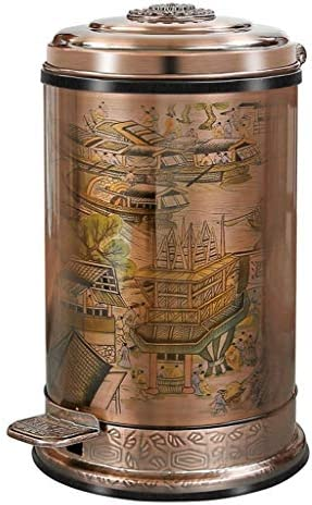 ゴミ袋 ゴミ箱用アクセサリ 10L大容量のゴミ箱は中国式のレトロなペダルのゴミ箱を世帯のゴミ箱にすることができます キッチンゴミ箱 (Color : B, サイズ : 10L)