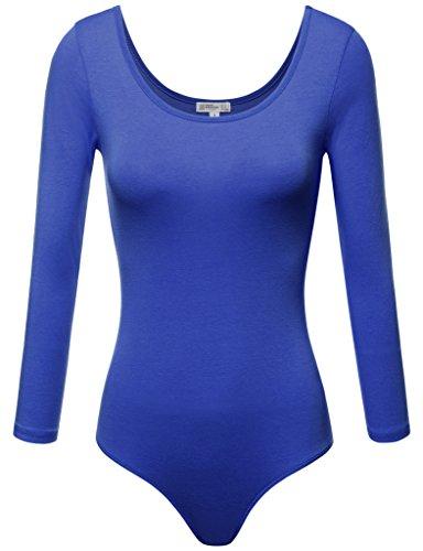 FPT Womens Basic 3/4 Sleeve Scoopneck Bodysuit ROYAL LARGE
