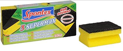 Spontex–Supermax Calidad Extra Esponjas con uñas y Scrubber Protección–30Count