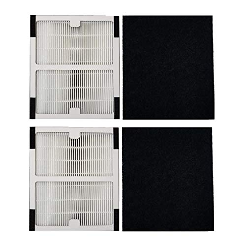 XINXI Replacement Idylis Air Purifier Filter A - 2 Pack Hepa & Carbon Filter Set for Idylis Air Purifiers Idylis IAP-10-100 Idylis IAP-10-150, AC-2119, Model # IAF-H-100A, IAFH100A
