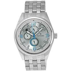 Sinobi By Lavaro Men's Quartz Wrist Watch SS0048GA-1 with Metal Strap