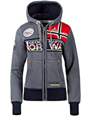 Geographical Norway Dames sweatjack met capuchon Bans Production