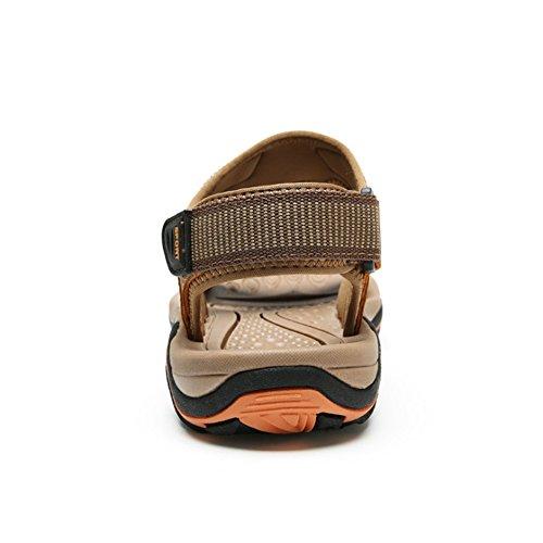 27 Traspiranti Sandali 0 CM 5 24 Outdoor Sports spiaggia Shoes pantofole Beach Marrone da Scarpe Wagsiyi Uomo Sandalo SwnPpqAx