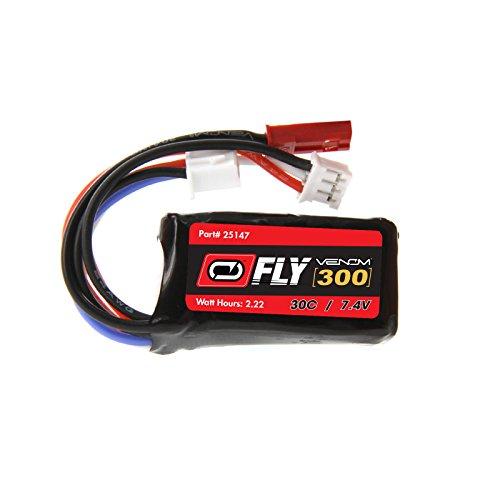 300 Mah Battery (Venom Fly 30C 2S 300mAh 7.4V LiPo Battery with JST and E-flite PH Plug - Compare to E-flite)