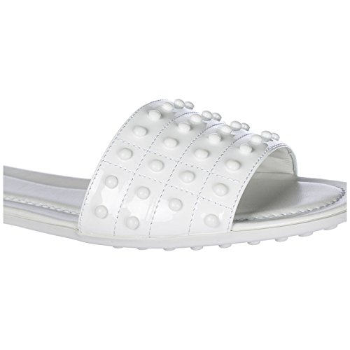 Sandales Blanc Mules Chaussons Tod's Femme O8w5a1aq