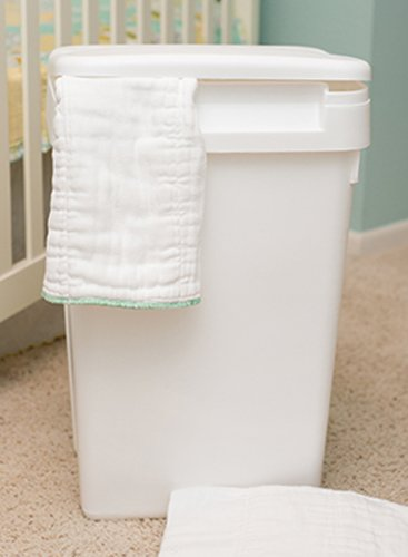 Natural Baby Sturdy Plastic Easy to Clean Flip Top Cloth Diaper Pail or Trash Can