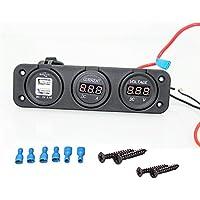 UXOXAS 12v marine Cigarette USB Port and voltage current socket for car SUV, Rv, Caravan