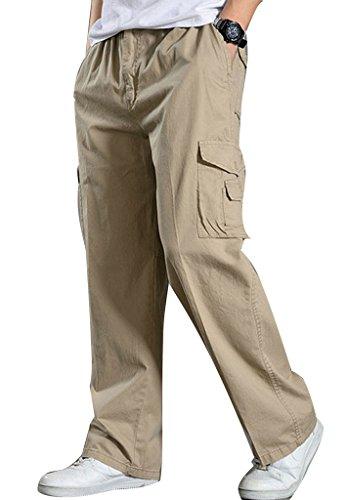 Elastic Waist Casual Pants - 5
