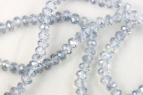 Smoky Quartz Rondelle Beads - 9