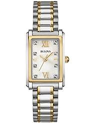 Bulova Womens 98P144 Analog Display Quartz Two Tone Watch