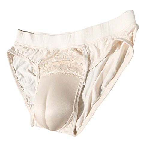 Beautylife88 #0113 Hiding Gaff Panty Shaping Pant For Crossdresser (Yellow,S)