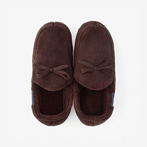 pacchetto con donna slittamento Il soggiorno cotone anti caldo pantofole inverno pantofole spessa caffè3 DogHaccd coppie Home scarpe autunno z46qfIawY