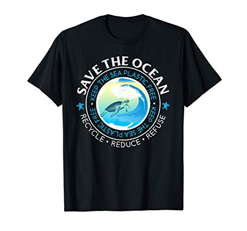 Save The Ocean Keep The Sea Plastic Free Turtle Lover Tshirt -