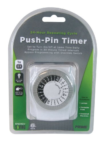 Prime Wire & Cable TNI2412 1-Outlet Push Pin - Hours Outlets Prime