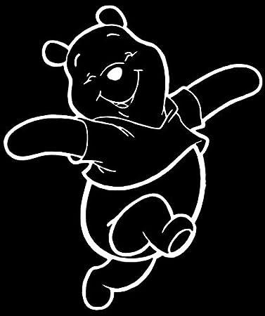 4 tamaños 21 Colores etiqueta de vinilo, Grande Winnie Pooh Bear Pegatinas De Pared Arte
