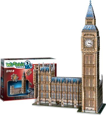 Wrebbit Puzzle 3D: pieces) Big & Ben & Parliament, England Foam Puzzle (890 pieces) B079VMPZ4Z, プチコパン:083595bc --- ero-shop-kupidon.ru