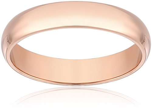 Classic Fit 14K Rose Gold Band, 4mm, Size 9.5
