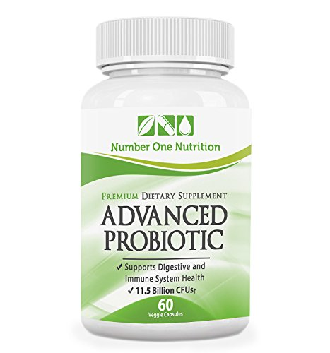 Number One Nutrition Probiotic Supplement, 11.5 Billion CFUs, 60 Vegetable Capsules (Number One Probiotic compare prices)