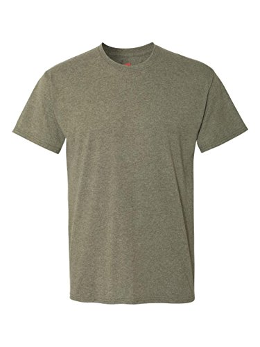 Blend Mens T-shirt - Hanes Mens X-Temp Fresh IQ Tri-Blend Performance Tee, 42TB, M,Military Heather