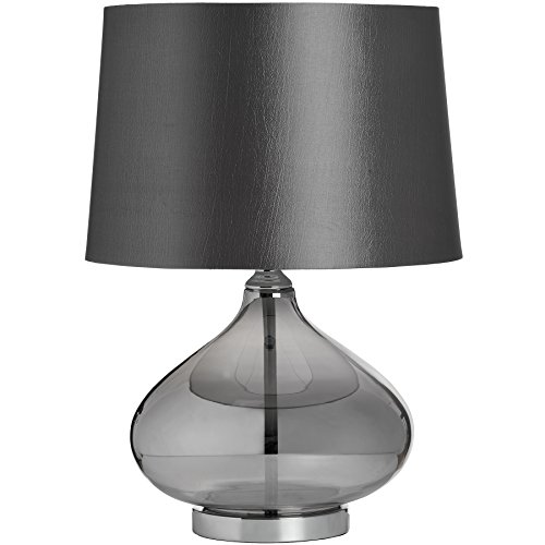 Hill Interiors Stella Metal Glass Table Lamp (UK Plug) (One Size) (Gray) by Hill Interiors