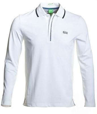 e095ffba Hugo Boss Long Sleeve Polo 50230870 Pleesy in White - XXXL: Amazon.co.uk:  Clothing