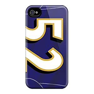 Defender Case With Nice Appearance (baltimore Ravens) For Iphone 4/4s