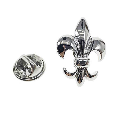 Cuff-Arts Lapel Pin Badges Fleur-De-Lis Pin Brooch Fleur De Lis Buttons Pins with a Gift Box P10007