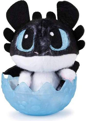 """How To Train Your Dragon The Hidden World Baby Toothless Dragon 3/"""" Plush in Egg"""