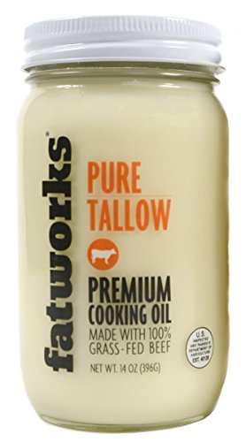 Beef Tallow, Grass-Fed, Kettle Rendered and Fine Filtered, 14oz (1 Pack)